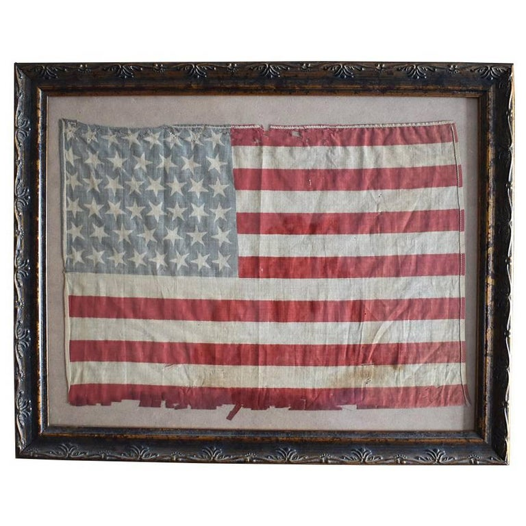 46 Star Oklahoma Flag in Red White Blue from Oklahoma 1907 For Sale