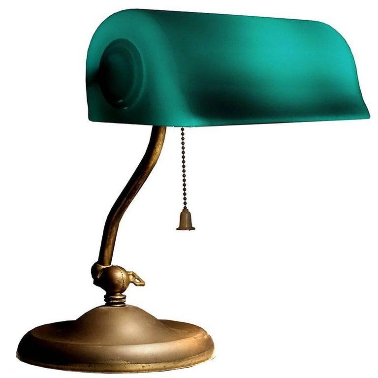 1917 Verdelite Bankers Desk Lamp For Sale
