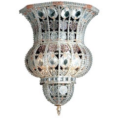 Crystal and Amethyst Sconce