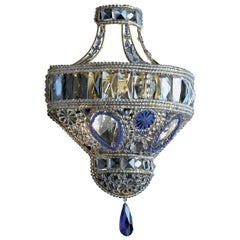 Blue Crystal Sconce