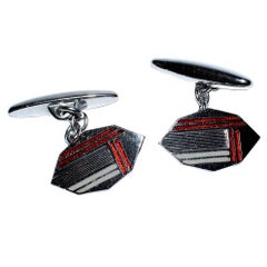 English Art Deco Mens Cufflinks