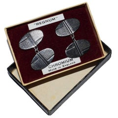 English Art Deco Mens Cufflinks with Original Box