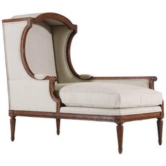 Louis XVI Style Chaise with Canopy