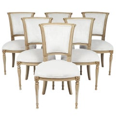 Set of Six Directoire Style Dining Chairs