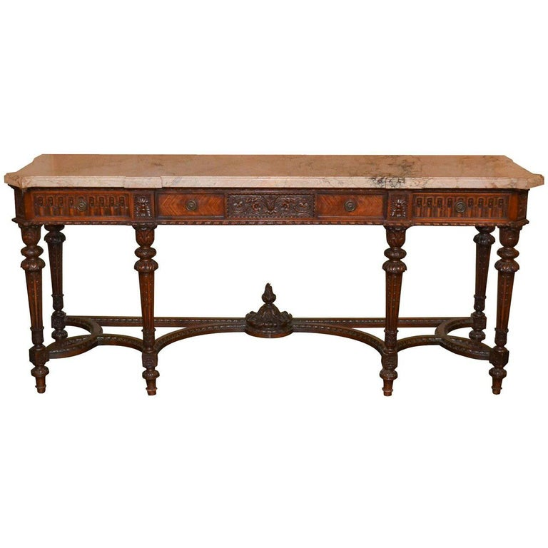French Louis XVI Walnut Console For Sale