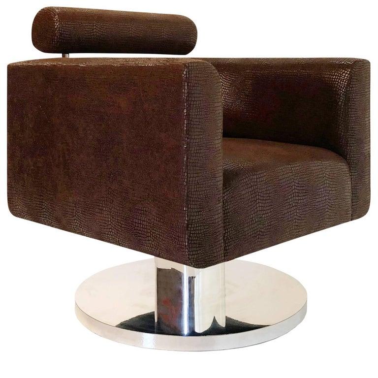 "Luigi Gentile ""Gigi"" Swivel Lounge Chair for Couture"