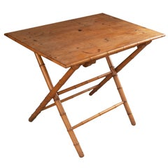 English Early 20th Century Faux Bamboo Coaching Table