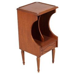 Midcentury Disk or Magazine Rack or Nightstands, In Walnut Polished with Wax