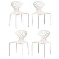 Set of Four Moroso Supernatural Chairs with Perforated Back