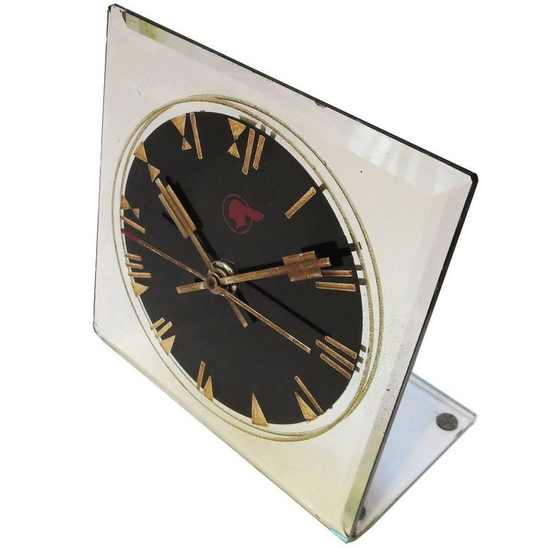 Art Deco Pontiac Automobiles Executive Desk Clock For Sale