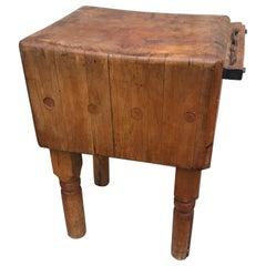Large Vintage Maple Butchers Block Table, Scandinavia