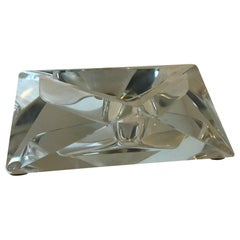 Large Art Deco Baccarat Faceted Crystal Star-of David Ashtray