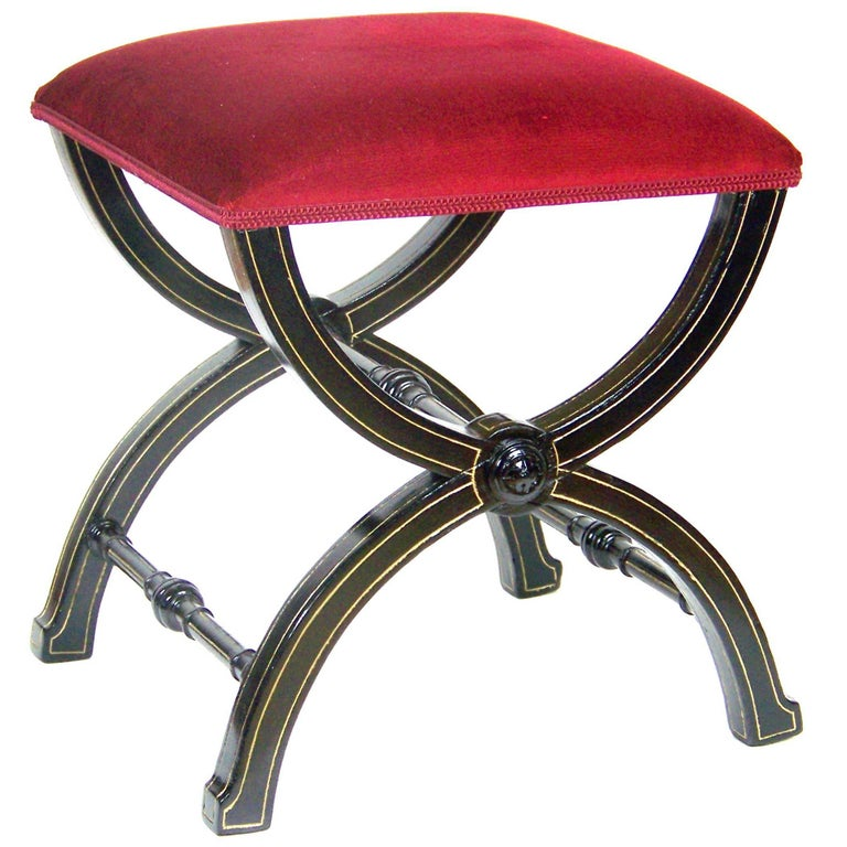 Saloon Hocker Stool, Thonet Nr.6, circa 1888