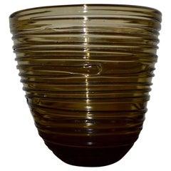 Italian Mid-Century Modern Glass Vase