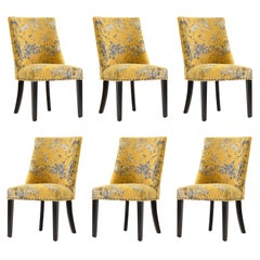 Set of Six Elegant and Original Dining Chairs