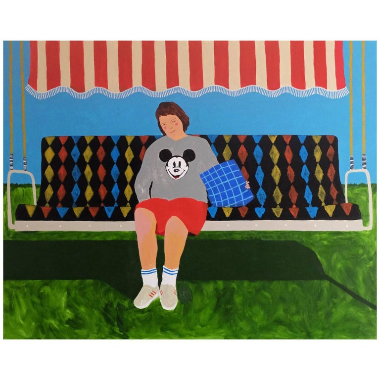 'Big Girl's Blouse' Figurative Painting by Alan Fears Pop Art