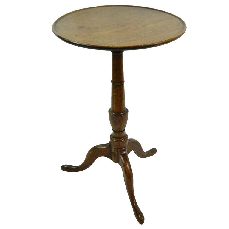 Late 18th Century George III Oak Candle Stand