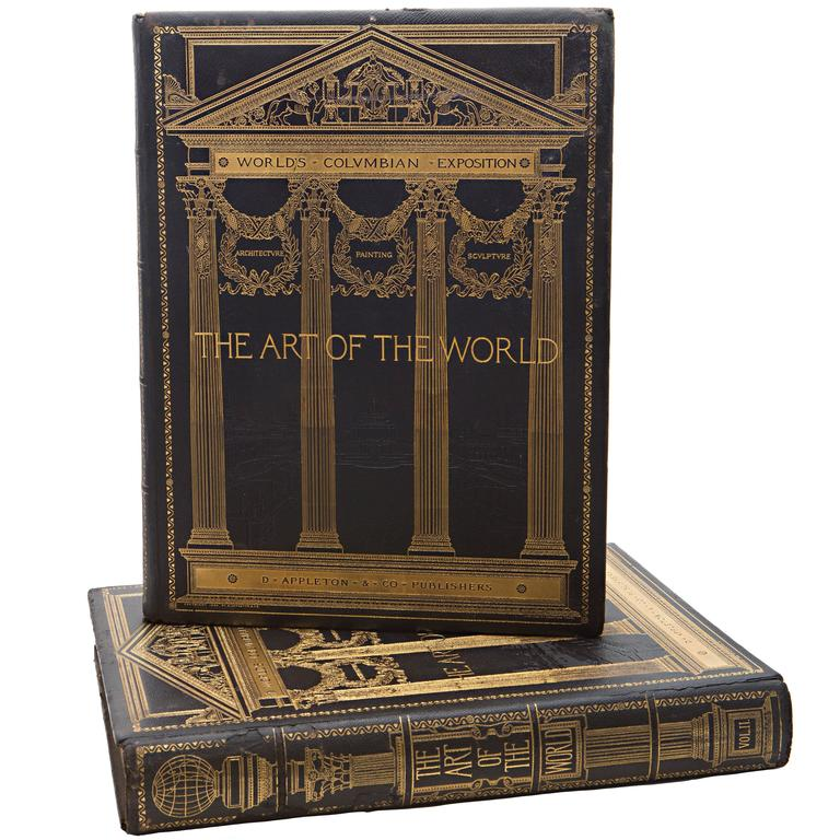 19th Century Art of the World Columbian Exposition Books, Two Volumes For Sale