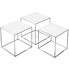 Poul Kjærholm PK71 Nesting Tables in Steel