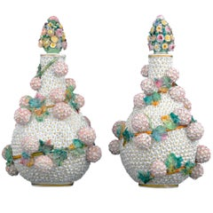 19th Century Jacob Petit Snowball Vases