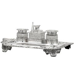 19th Century Paul Storr George III Silver Inkstand