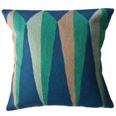 Zimbabwe Root Spring Hand Embroidered Modern Geometric Throw Pillow Cover