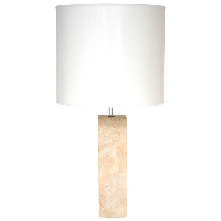 Marble Column Form Table Lamp by Robert Sonneman