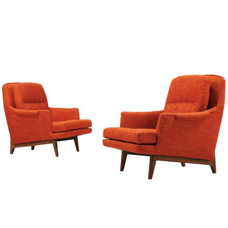 Roger Sprunger Model #484 Easy Lounge Chairs for Dunbar