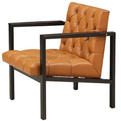 Edward J. Wormley Tufted Lounge Chair for Dunbar