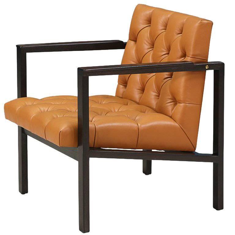 Edward J. Wormley Tufted Lounge Chair for Dunbar 1