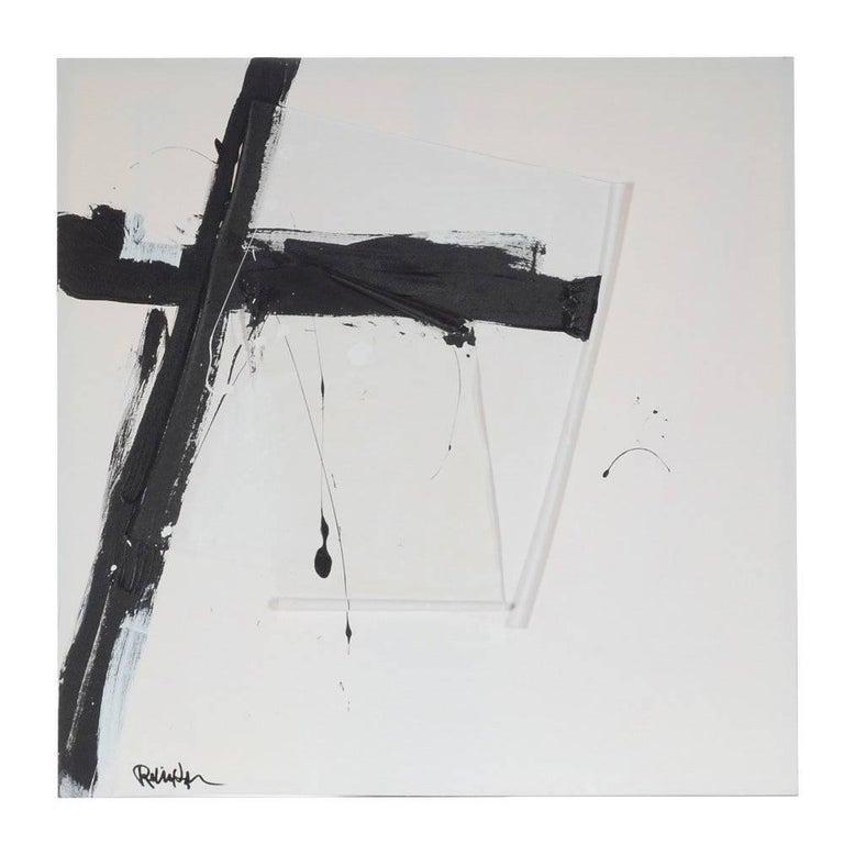"Original Modern Acrylic Painting ""Black Angle"" by Robbie Kemper"