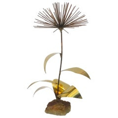 Dandelion Flower Sculpture with Onyx by Curtis Jere Artisan House