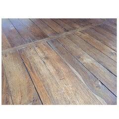 French Antique Flooring Wood Oak, Original Floor 17th Century
