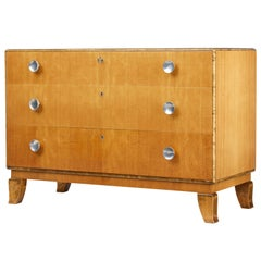 1950s Scandinavian Elm and Birch Chest of Drawers