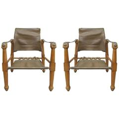 Pair French Mid-Century' Modern Neoclassical Armchairs Attr. Jean-Charles Moreux