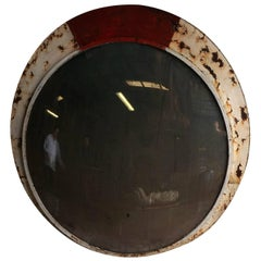 Mid-20th Century French Industrial Convex Mirror