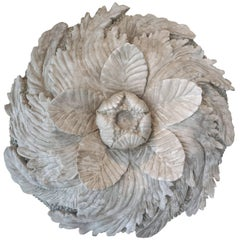 Early 20th Century Wall Mount Rosette in French Plaster