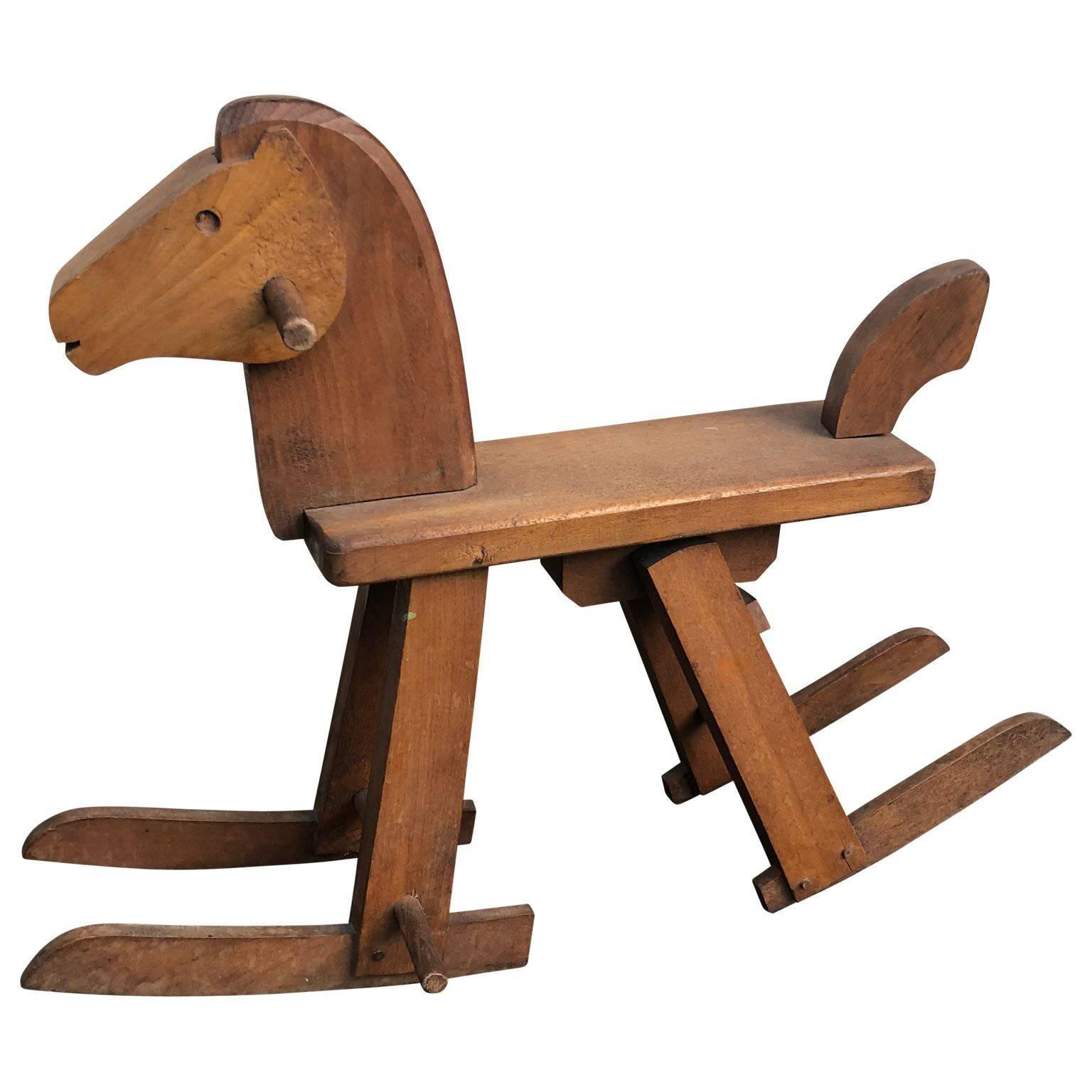 Vintage Danish Kai Bojesen Style Rocking Horse