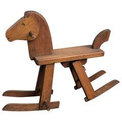 Vintage Kai Bojesen Style Rocking Horse