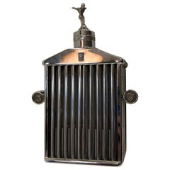 Vintage Rolls Royce Radiator Flask and Musical Box