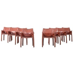 Set of Eight Mario Bellini Cab Chairs