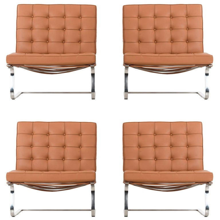 Set of Four Mies van der Rohe Tugendhat Chairs