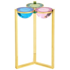 Globo Colored Lucite Drinks Table