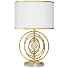 Electrum Brass and Nickel Table Lamp