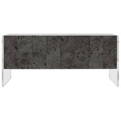 Bond Lindera Wood Credenza in Charcoal