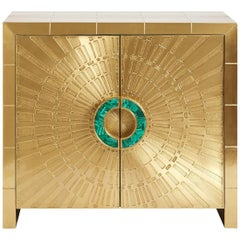 Talitha Brass and Malachite Cabinet
