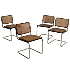 Chairs Designed for Gavina Model Cesca Vienna Straw Vintage, Italy, 1960s-1970s