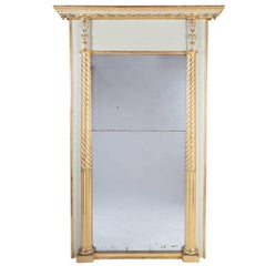 Large 19th Century Split Plate Mirror