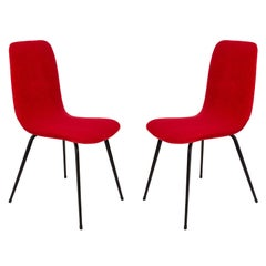 Fameg, pair of red chairs, A-6150 type, 1960s, Poland.