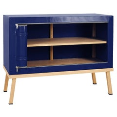 Visser and Meijwaard Truecolors Dresser or Credenza in Dark Blue PVC Cloth